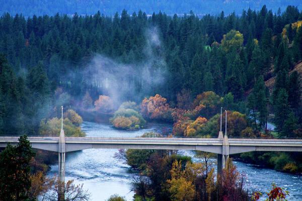 Spokane Digital Art - Fog In Spokane by Terry Davis