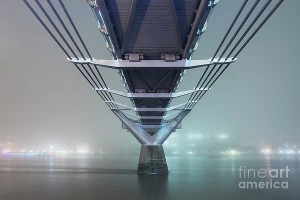 City Scape Photograph - Fog - Millennium Bridge by Rod McLean