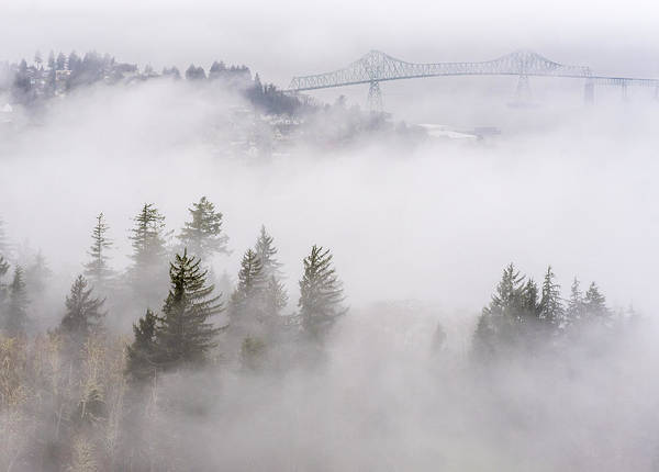 Photograph - Fog On Astoria by Robert Potts