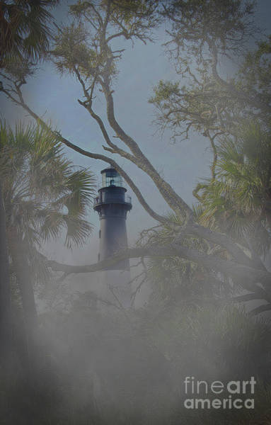 Hunting Island Lighthouse Wall Art - Photograph - Fog On Hunting Island by Skip Willits