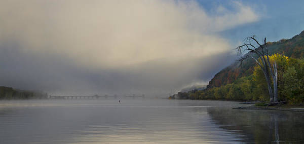 Wi Photograph - Fog On Mississippi River by Garry McMichael