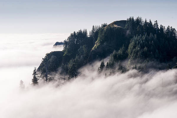 Photograph - Fog On Saddle Mountain by Robert Potts