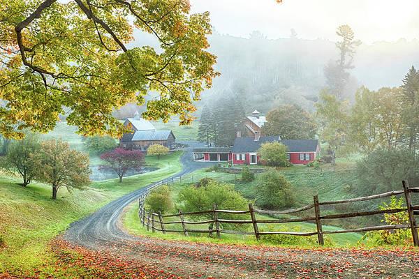 Photograph - Fog On Sleepy Hollow Farm by Jeff Folger