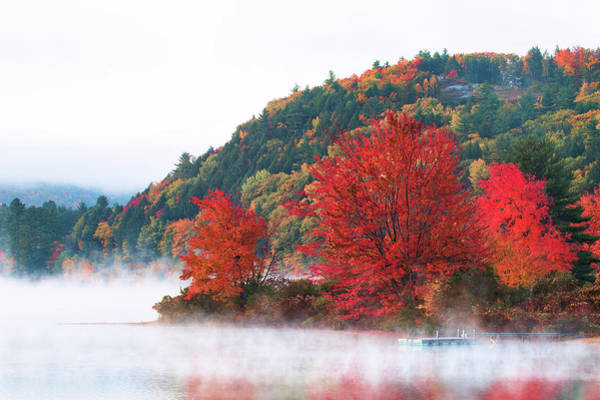 Wall Art - Photograph - Fog Over Crystal Lake by Eric Gendron