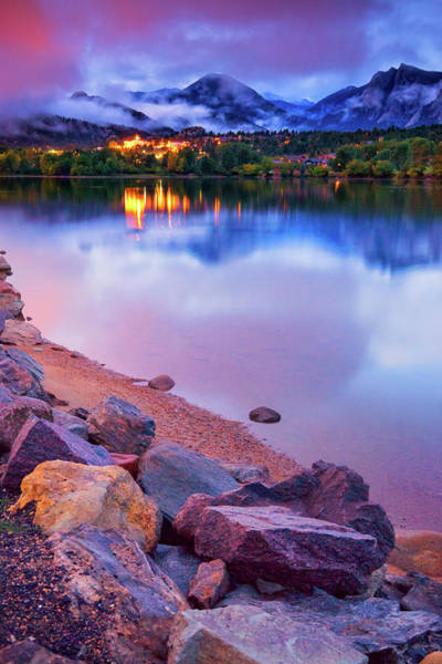 Photograph - Fog Over Lake Estes by John De Bord