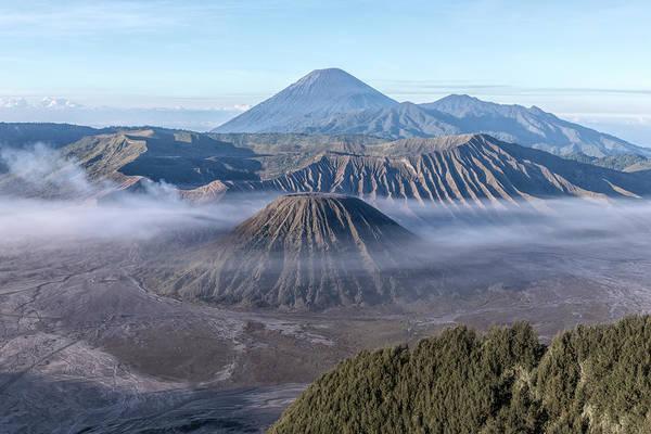 Rauch Wall Art - Photograph - fog over Mount Bromo - Java by Joana Kruse
