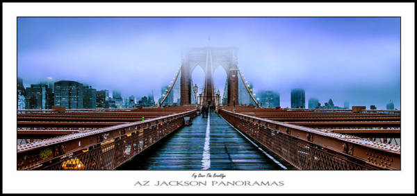 Suspension Bridge Photograph - Fog Over The Brooklyn Poster Print by Az Jackson