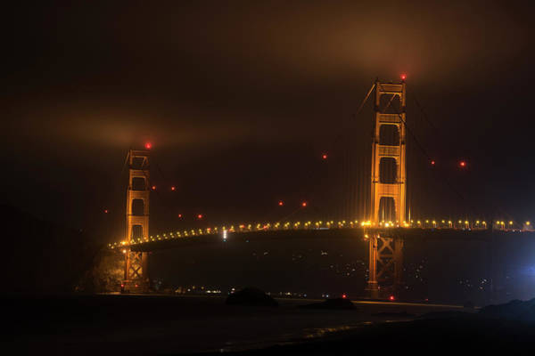 Photograph - Fog Over The Golden Gate Bridge San Francisco Ca by Toby McGuire