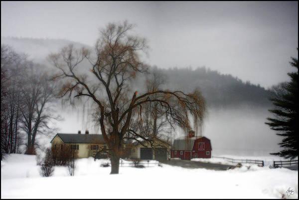 Photograph - Fog Over Willow Farm by Wayne King