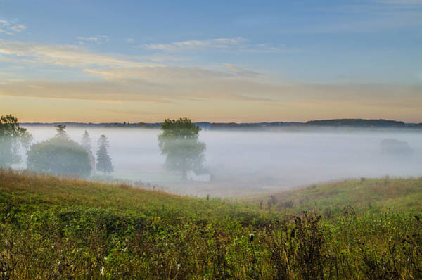 Wall Art - Photograph - Fog Shrouded Valley Forge by Bill Cannon