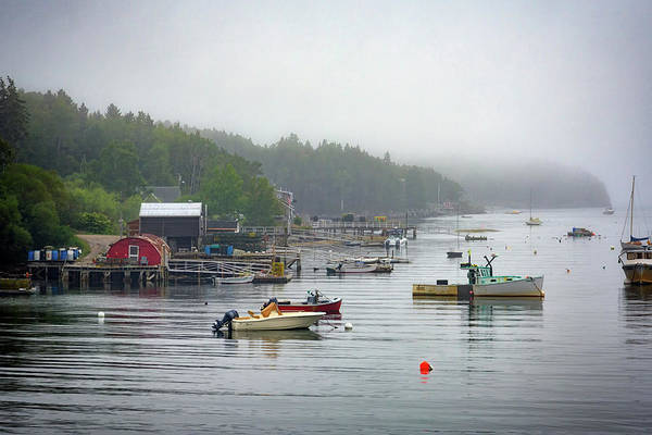Cumberland Photograph - Foggy Afternoon In Mackerel Cove  by Rick Berk