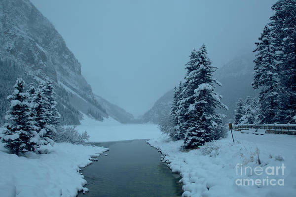 Photograph - Foggy And Freezing At Lake Louise by Adam Jewell