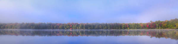 Photograph - Foggy Autumn Panorama by David Patterson