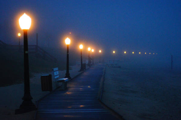 Wi Wall Art - Photograph - Foggy Boardwalk Blues by Bill Pevlor