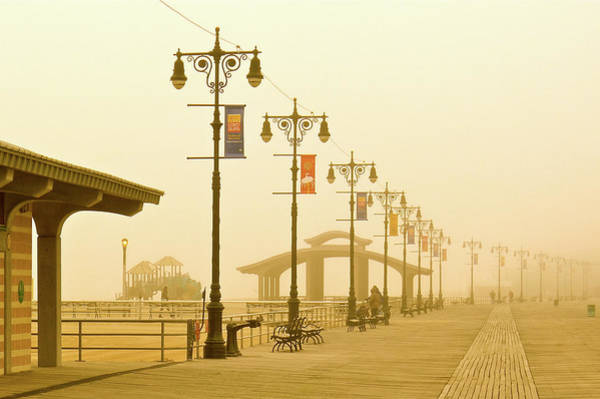 Photograph - Foggy Boardwalk by Frank Winters