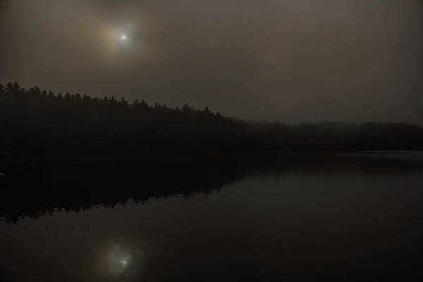Photograph - Foggy Buck Lake by Dale Kauzlaric