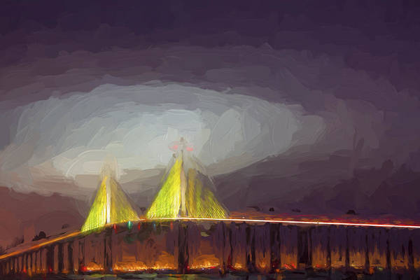 Tampa Digital Art - Foggy Dawn II by Jon Glaser