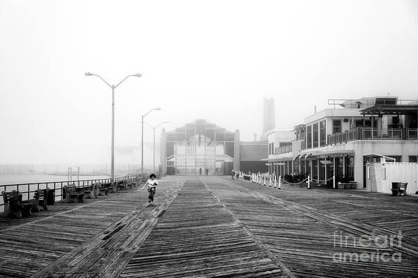 Photograph - Foggy Day At Asbury Park by John Rizzuto
