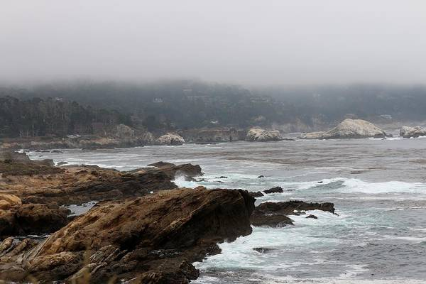 Photograph - Foggy Day At Point Lobos Reserve - 2 by Christy Pooschke