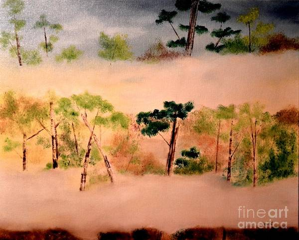 Painting - Foggy Forest by Denise Tomasura