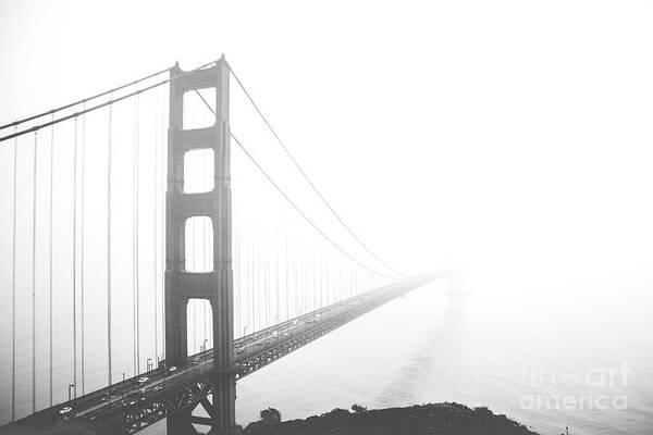 Wall Art - Photograph - Foggy Golden Gate Bridge  by MGL Meiklejohn Graphics Licensing