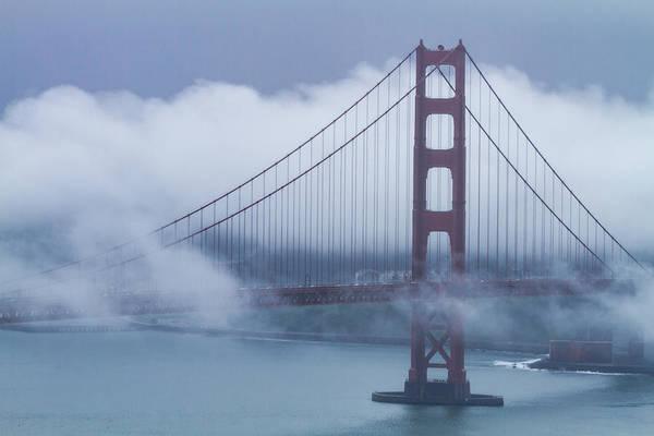 Photograph - Foggy Golden Gate Bridge by Teri Virbickis