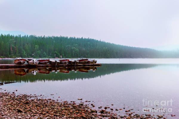 Photograph - Foggy Harbor In Glacier National Park by Kay Brewer