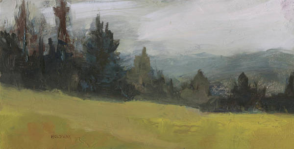 Painting - Foggy Hill by John Holdway