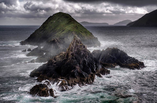 Photograph - Foggy Islands In Western Ireland by Jaroslaw Blaminsky