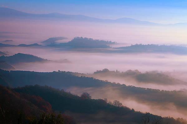 Photograph - Foggy Italian Countryside by Joan Carroll