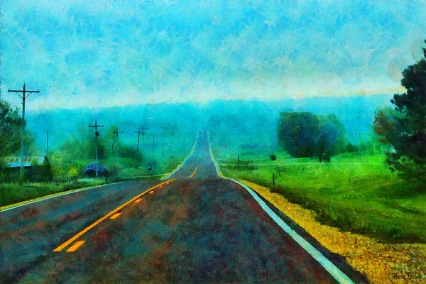 Photograph - Foggy Kansas Highway by Anna Louise