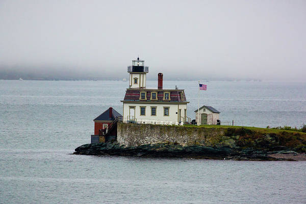 Newport Ri Wall Art - Photograph - Foggy Lighthouse by Brian Knott Photography