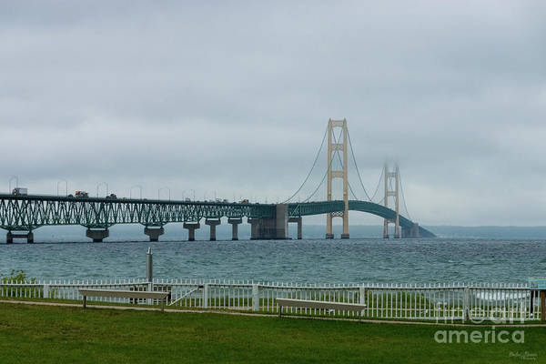 Michilimackinac Wall Art - Photograph - Foggy Mighty Mac by Jennifer White