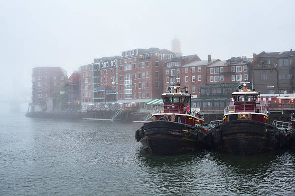 Wall Art - Photograph - Foggy Moran Tugboats by Eric Gendron