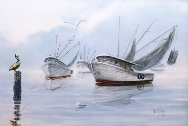 Painting - Foggy Morn' by Gary Partin