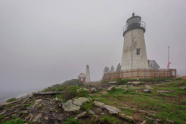 Photograph - Foggy Morning At Pemaquid Point by Rick Berk