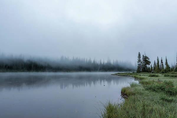 Photograph - Foggy Morning At Reflection Lake by Belinda Greb