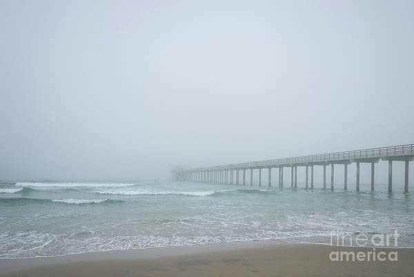 Scripps Pier Photograph - Foggy Morning At Scripps Pier by Al Andersen