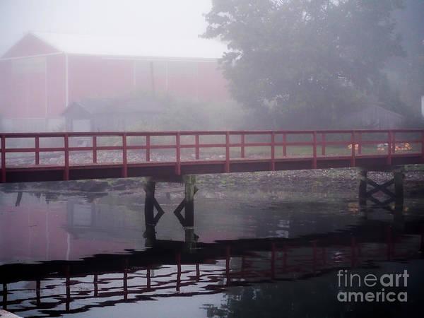 Foggy Morning At The Bridge Art Print
