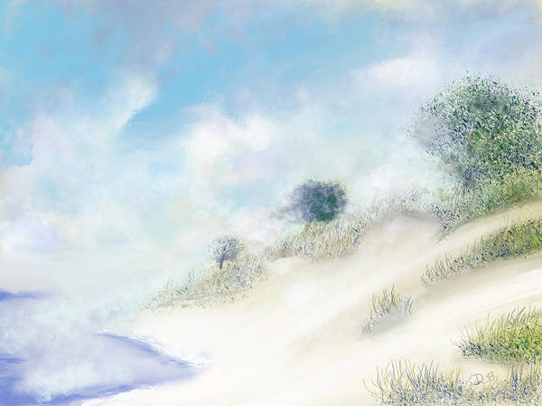 Digital Art - Foggy Morning At The Dunes by Dick Bourgault