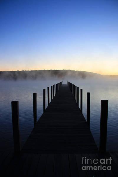 Foggy Morning Docks 1 Art Print