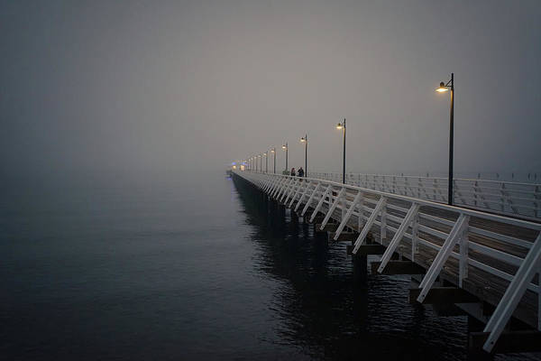 Photograph - Foggy Morning On The Pier by Keiran Lusk
