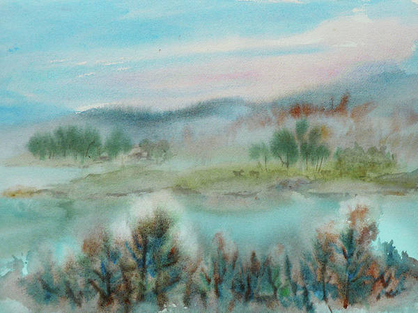 Painting - Foggy Morning by Xueling Zou