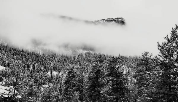 Photograph - Foggy Mountain Peak - Estes Park by Angie Tirado