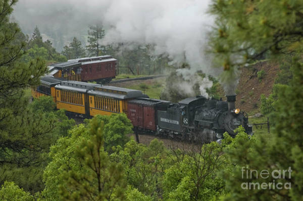 Photograph - Foggy Mountain Railroading by Tim Mulina