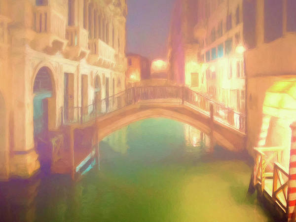 Painting - Foggy Night In Venice by Dominic Piperata