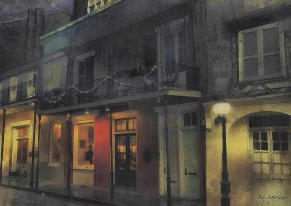Painting - Foggy Night On Dumaine by RC DeWinter