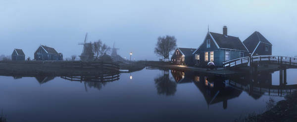 Holland Wall Art - Photograph - Foggy Panorama by Jorge Maia