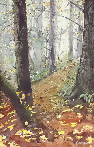 Foggy Painting - Foggy Path by Jenny Armitage