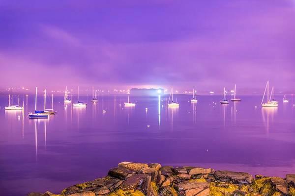 Wall Art - Photograph - Foggy Portland Harbor Sunset by Tim Sullivan